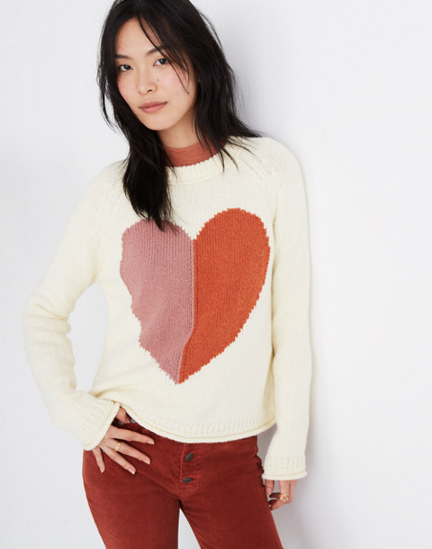 Heart Keaton Pullover Sweater in antique cream image 1