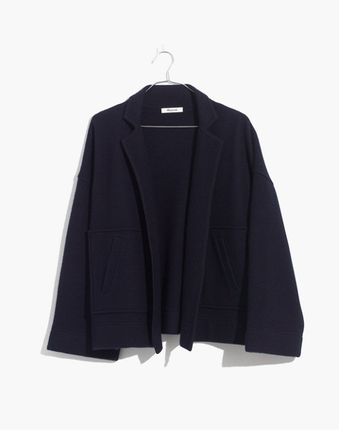 Lisbon Sweater-Jacket in dark ocean image 1