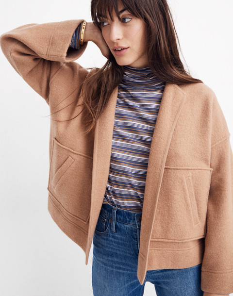 Lisbon Sweater-Jacket in heather fawn image 2