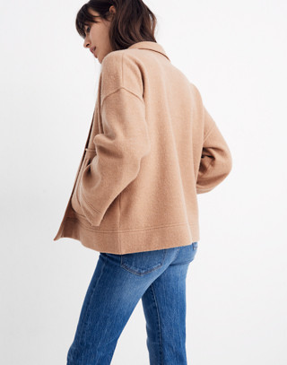 Lisbon Sweater-Jacket in heather fawn image 3