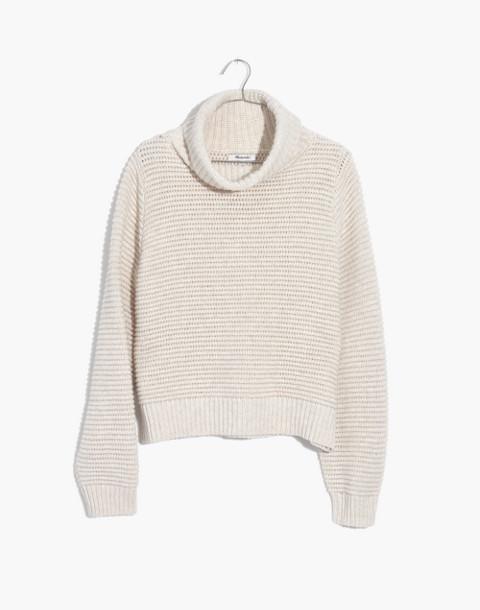 Side-Button Turtleneck Sweater in heather oak image 4