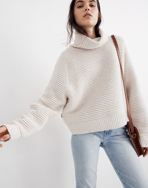 6574312a41d Side-Button Turtleneck Sweater