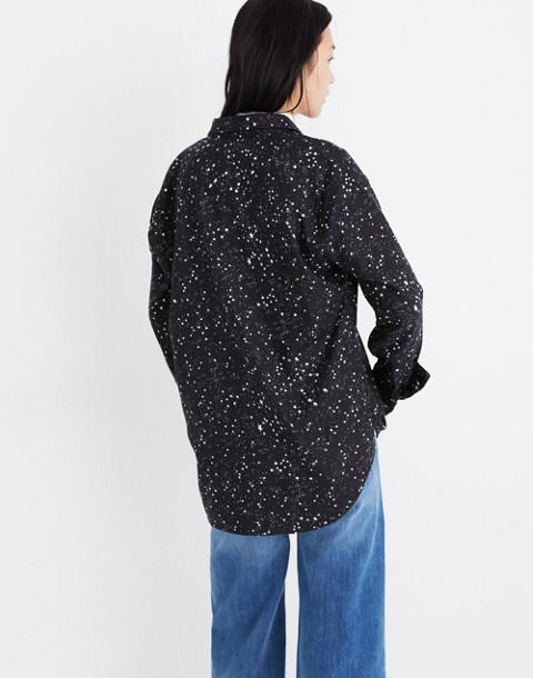Oversized Ex-Boyfriend Shirt in Star Print in galaxy star true black image 3