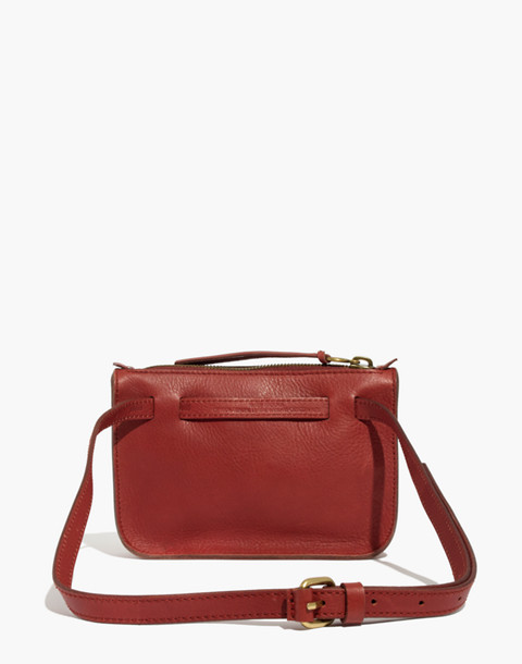 The Simple Pouch Belt Bag in Faux Fur in canterbury red image 3