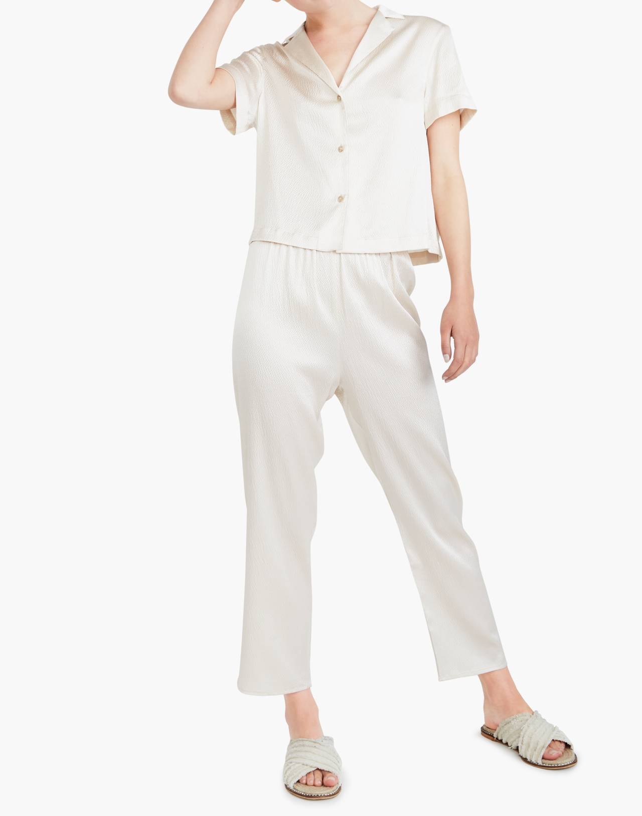The Great Eros® Silk Odessa Crop Pants in natural image 2