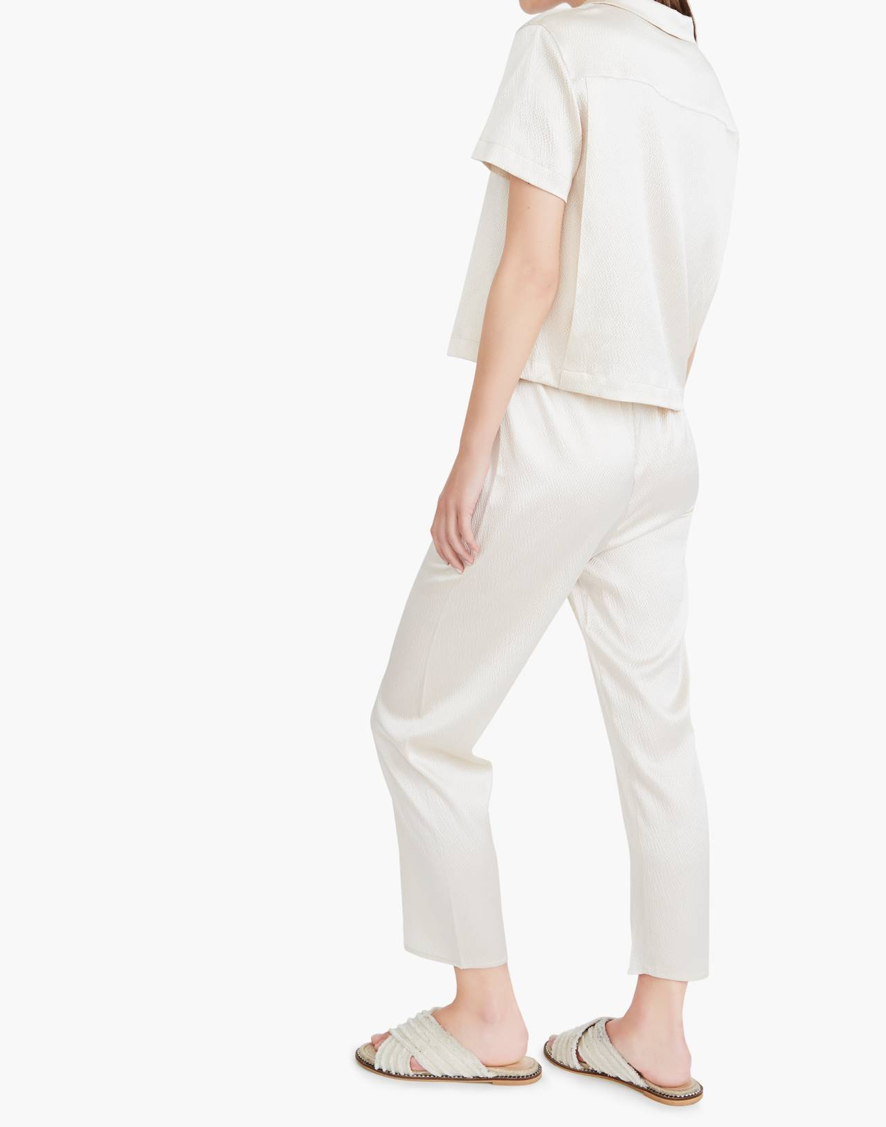 The Great Eros® Silk Odessa Crop Pants in natural image 3