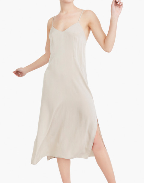 The Great Eros® Silk Anesi Darted Slip Dress in natural image 2