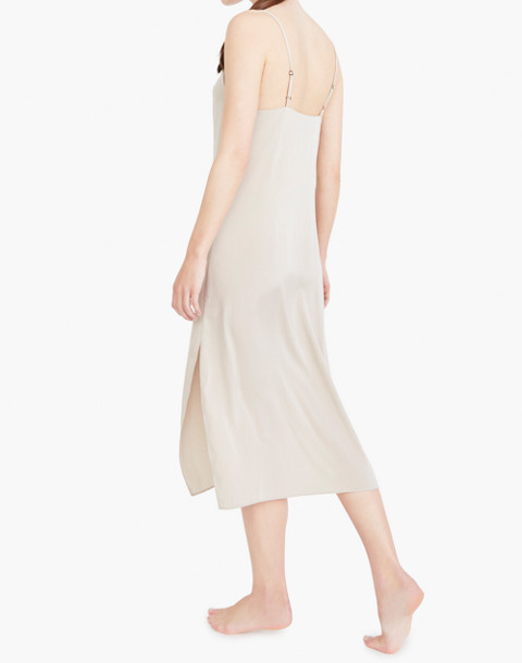 The Great Eros® Silk Anesi Darted Slip Dress in natural image 3