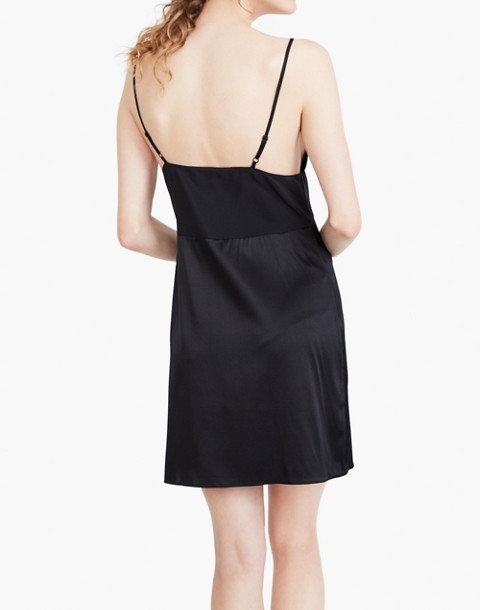 The Great Eros® Silk Ereni Pieced Slip Dress in black image 3