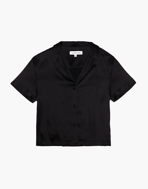 The Great Eros® Silk Ereni Camp Shirt in black image 1