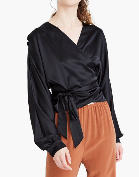 The Great Eros® Silk Ereni Wrap Top
