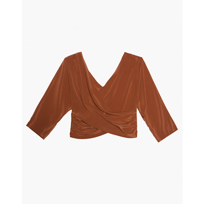 The Great Eros® Silk Loutro Wrap Button Back Top by Madewell