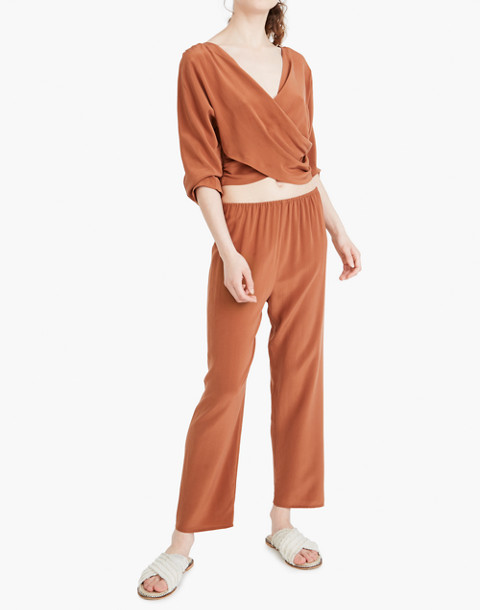 The Great Eros® Silk Loutro Tapered Crop Pants in orange image 2