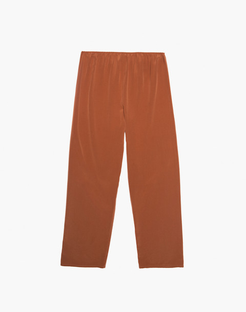 The Great Eros® Silk Loutro Tapered Crop Pants in orange image 4