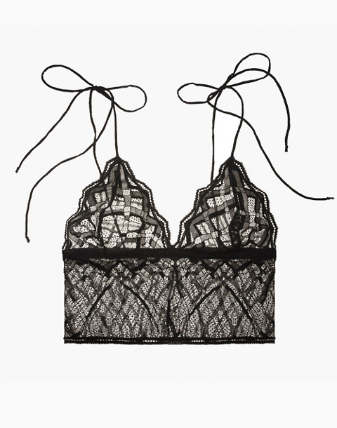 The Great Eros® Lace Sonata Longline Bralette in black image 1