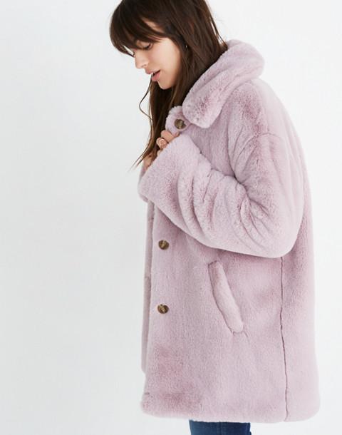 Faux-Fur Coat in wisteria dove image 2