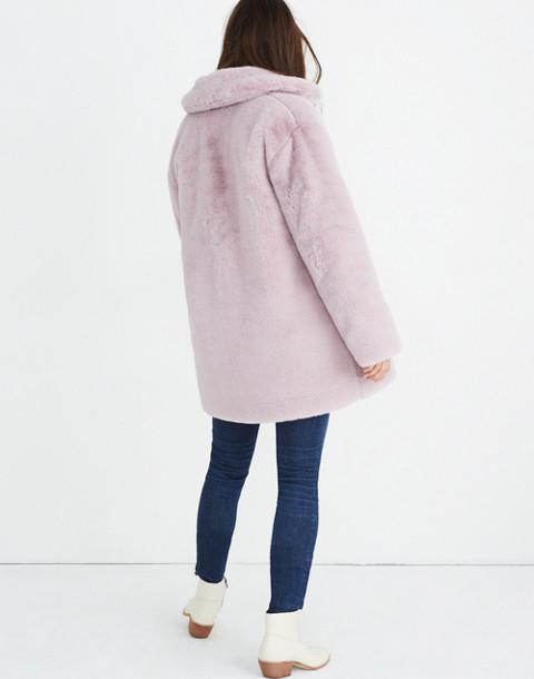 Faux-Fur Coat in wisteria dove image 3