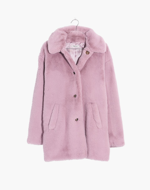Faux-Fur Coat in wisteria dove image 4