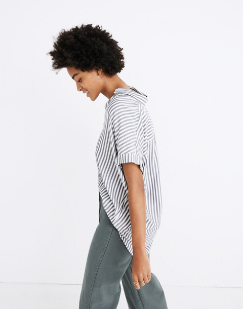 Central Shirt in Ballard Stripe in moonless night neat stripe image 2