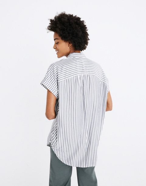 Central Shirt in Ballard Stripe in moonless night neat stripe image 3