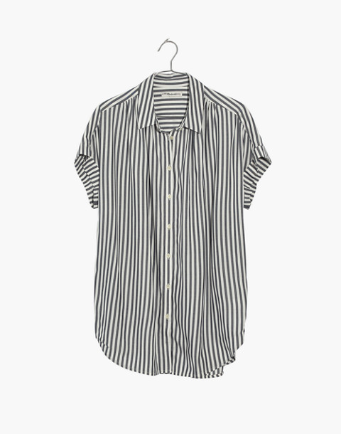 Central Shirt in Ballard Stripe in moonless night neat stripe image 4