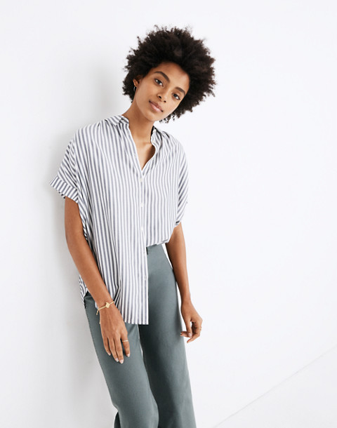 Central Shirt in Ballard Stripe in moonless night neat stripe image 1