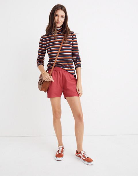 Pull-On Shorts in dark rosette image 3