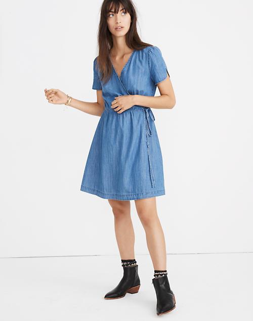 00a7723a54 Denim Wrap Dress in nevins wash image 2