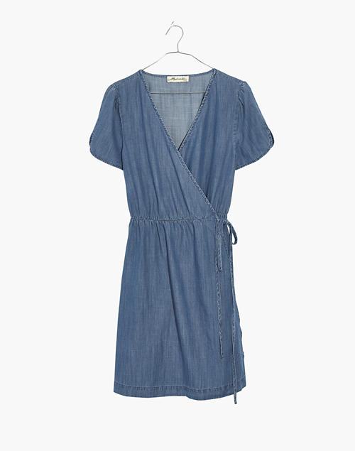 7927a59497 Denim Wrap Dress in nevins wash image 4