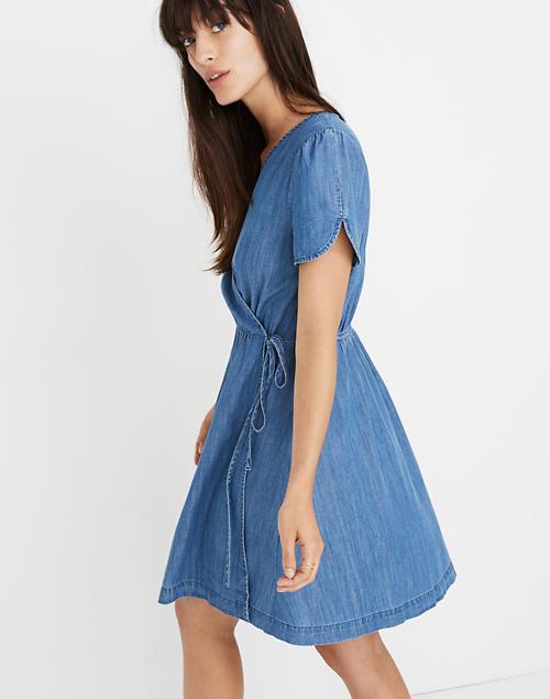 07f261db8d Denim Wrap Dress in nevins wash image 1