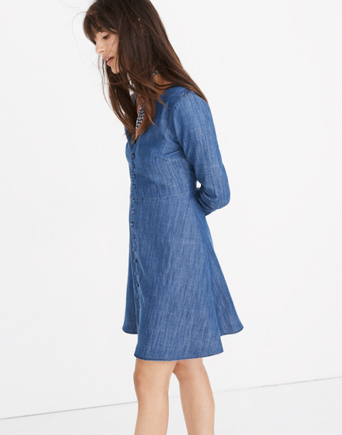 Denim Lilyblossom Button-Front Dress in landers wash image 2