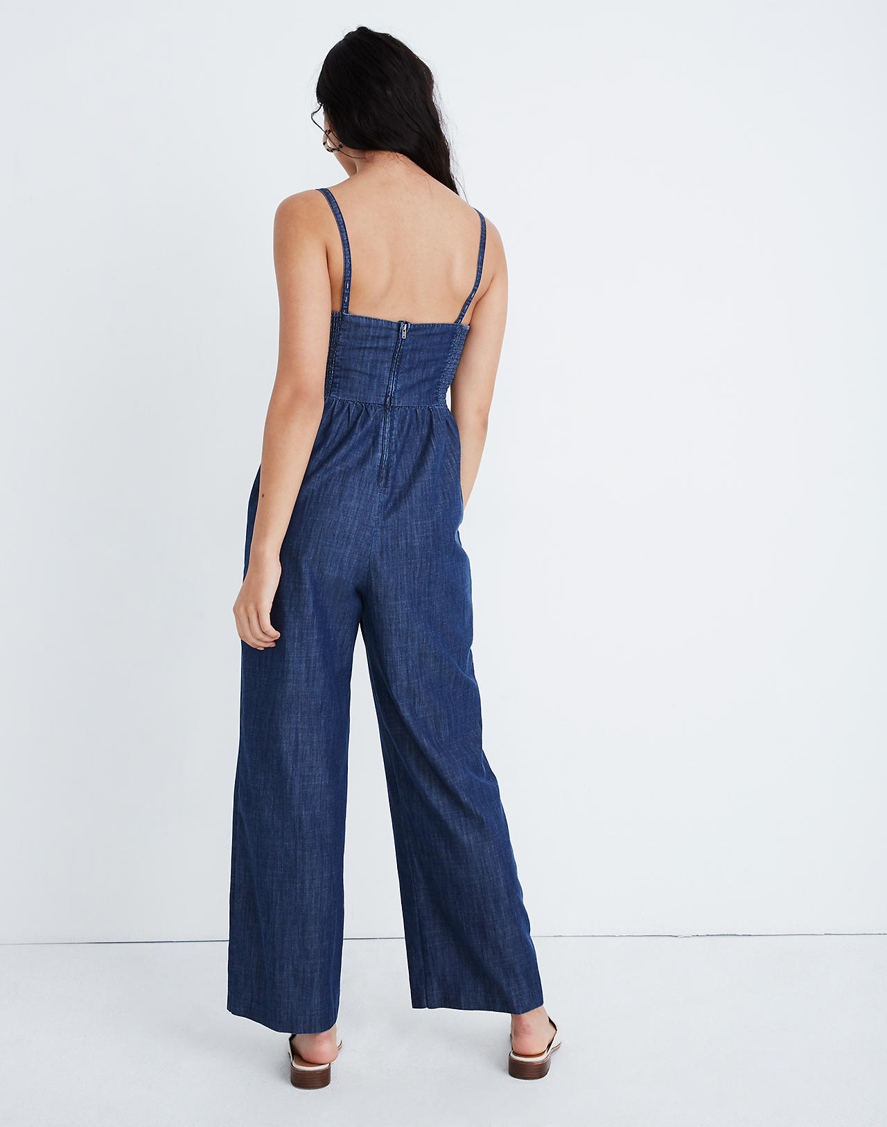 5e79602c211a Denim Thistle Cami Jumpsuit in kenney wash image 3