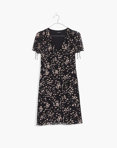 Poppy Dress in Drifting Petals in paintbrush deep navy image 4