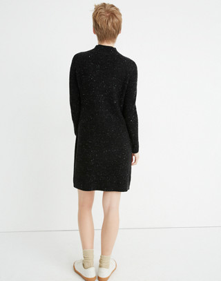 Donegal Northfield Mockneck Sweater-Dress in Coziest Yarn in donegal storm image 3