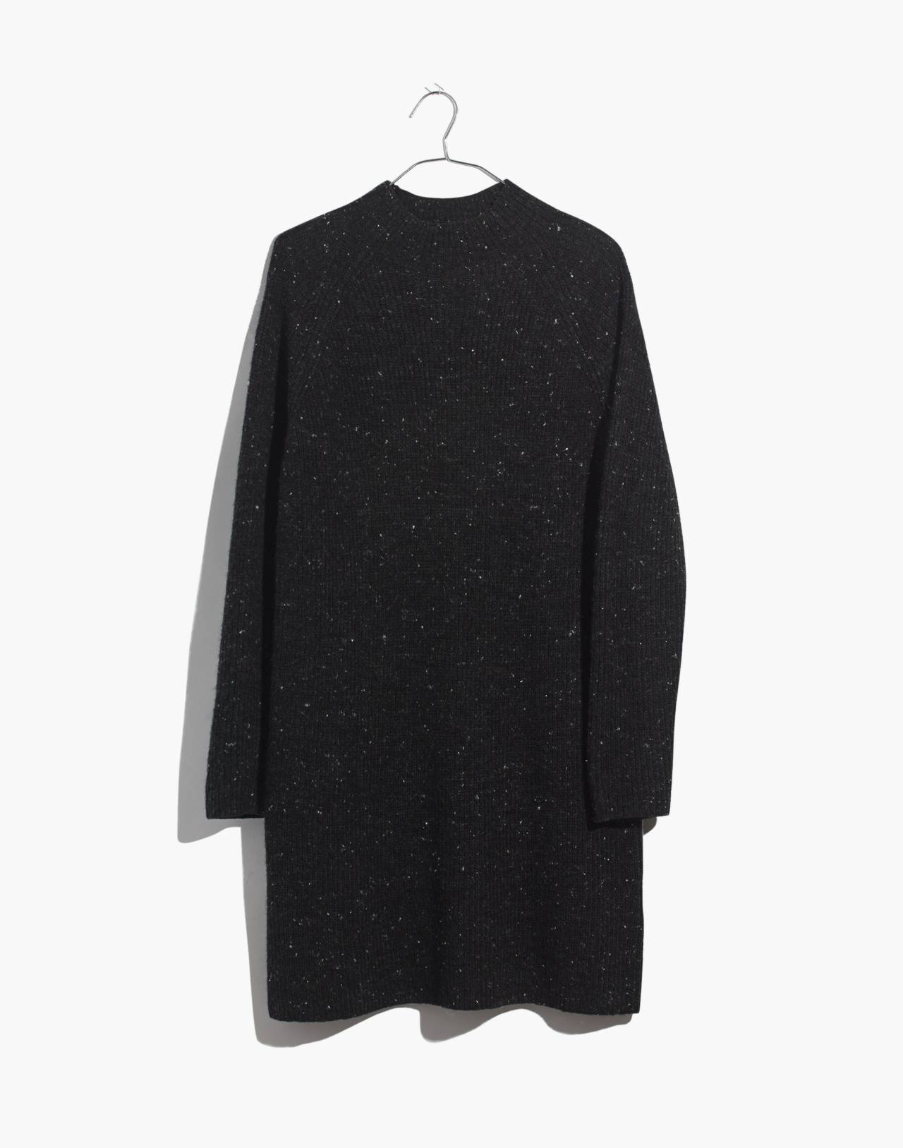 Donegal Northfield Mockneck Sweater-Dress in Coziest Yarn in donegal storm image 4