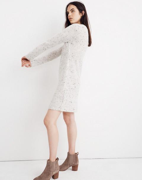 Donegal Northfield Mockneck Sweater-Dress in Coziest Yarn in donegal smoke image 2