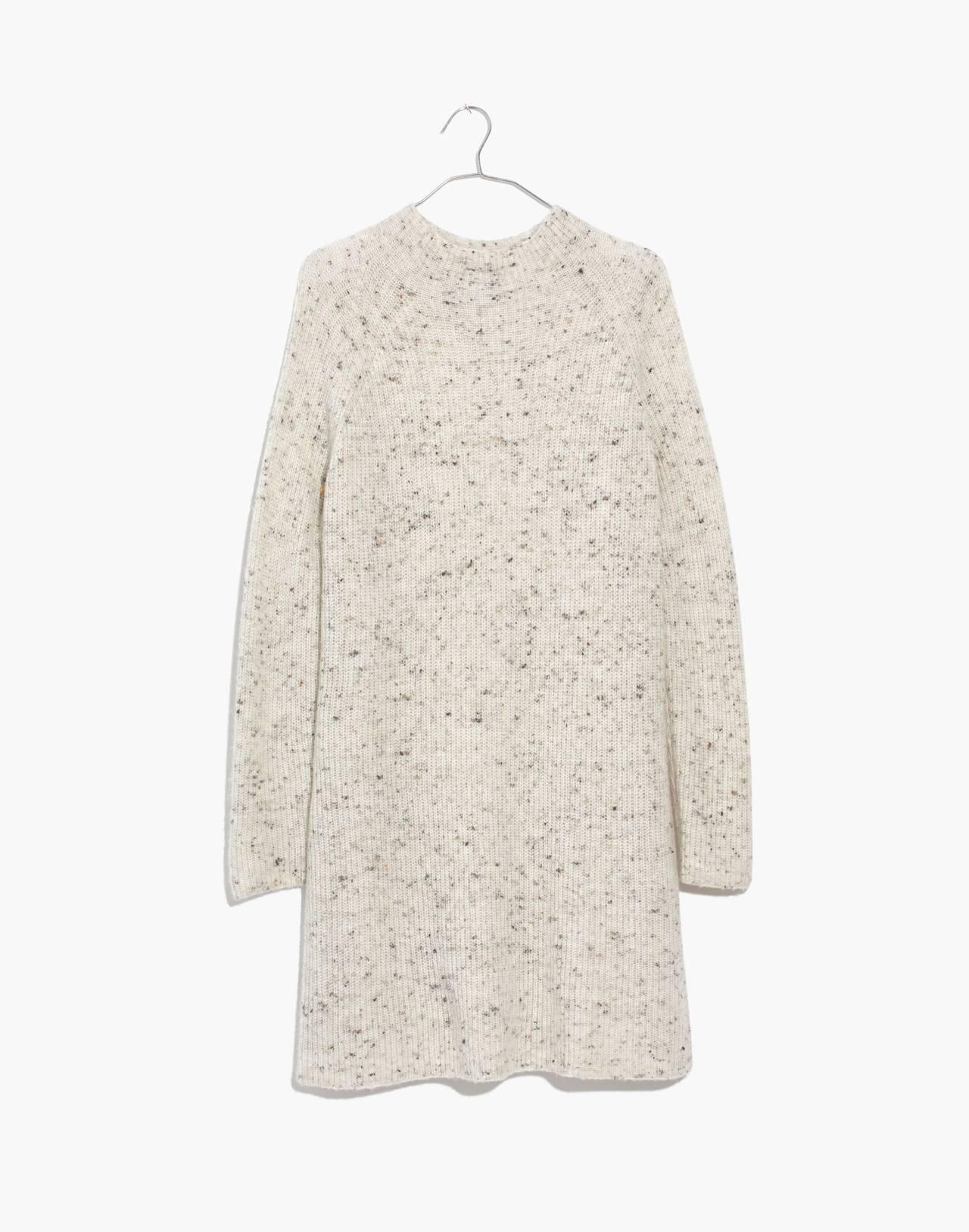 Donegal Northfield Mockneck Sweater-Dress in Coziest Yarn in donegal smoke image 4