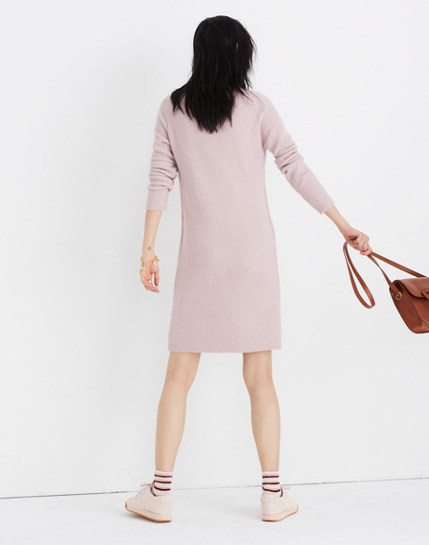 Northfield Mockneck Sweater-Dress in Coziest Yarn in wisteria dove image 3