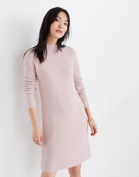 Northfield Mockneck Sweater-Dress in Coziest Yarn in wisteria dove image 1