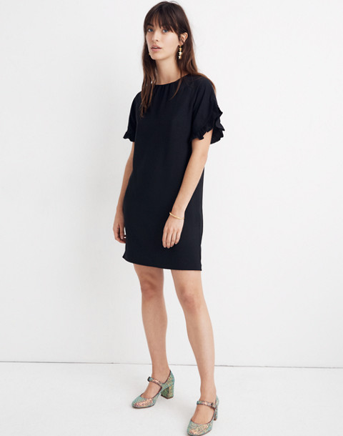 791afffb90a Memento Ruffle-Sleeve Dress in true black image 1