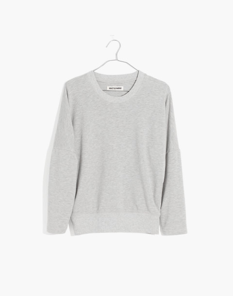 Rivet & Thread Relaxed Sweatshirt in hthr smoke image 4