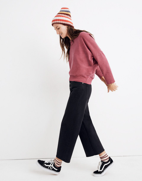 Rivet & Thread Relaxed Sweatshirt in bright garnet image 2