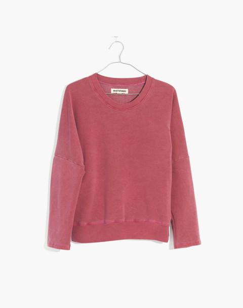 Rivet & Thread Relaxed Sweatshirt in bright garnet image 4