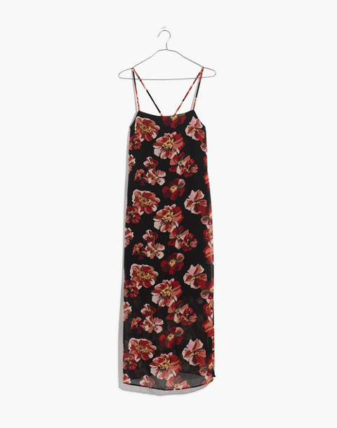 Apron Slip Dress in French Rose in rose classic black image 4
