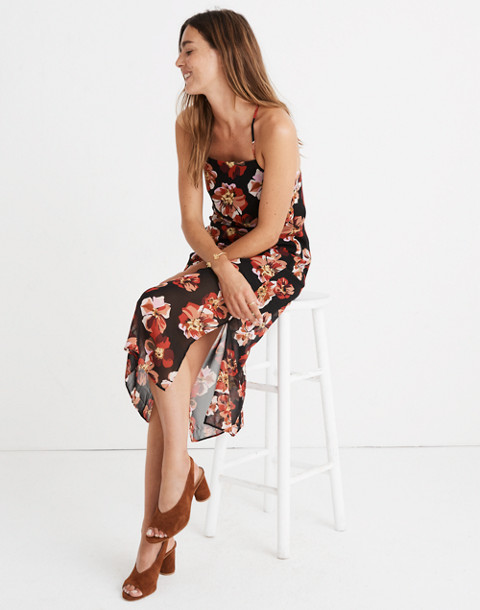 Apron Slip Dress in French Rose in rose classic black image 1