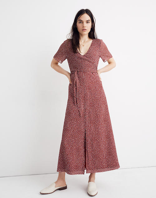 5f1d2bf09a Wrap-Around Maxi Dress in Ditsy Flowers in null image 1