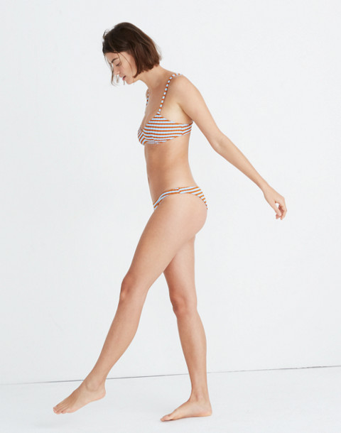 Solid & Striped® Rachel Bikini Bottom in sky clay rib image 2