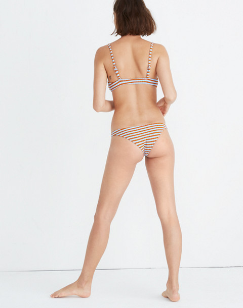 Solid & Striped® Rachel Bikini Bottom in sky clay rib image 3
