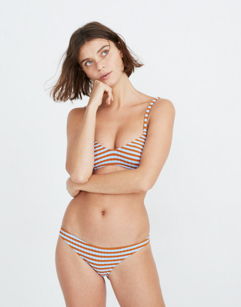 Solid & Striped® Rachel Bikini Bottom in sky clay rib image 1