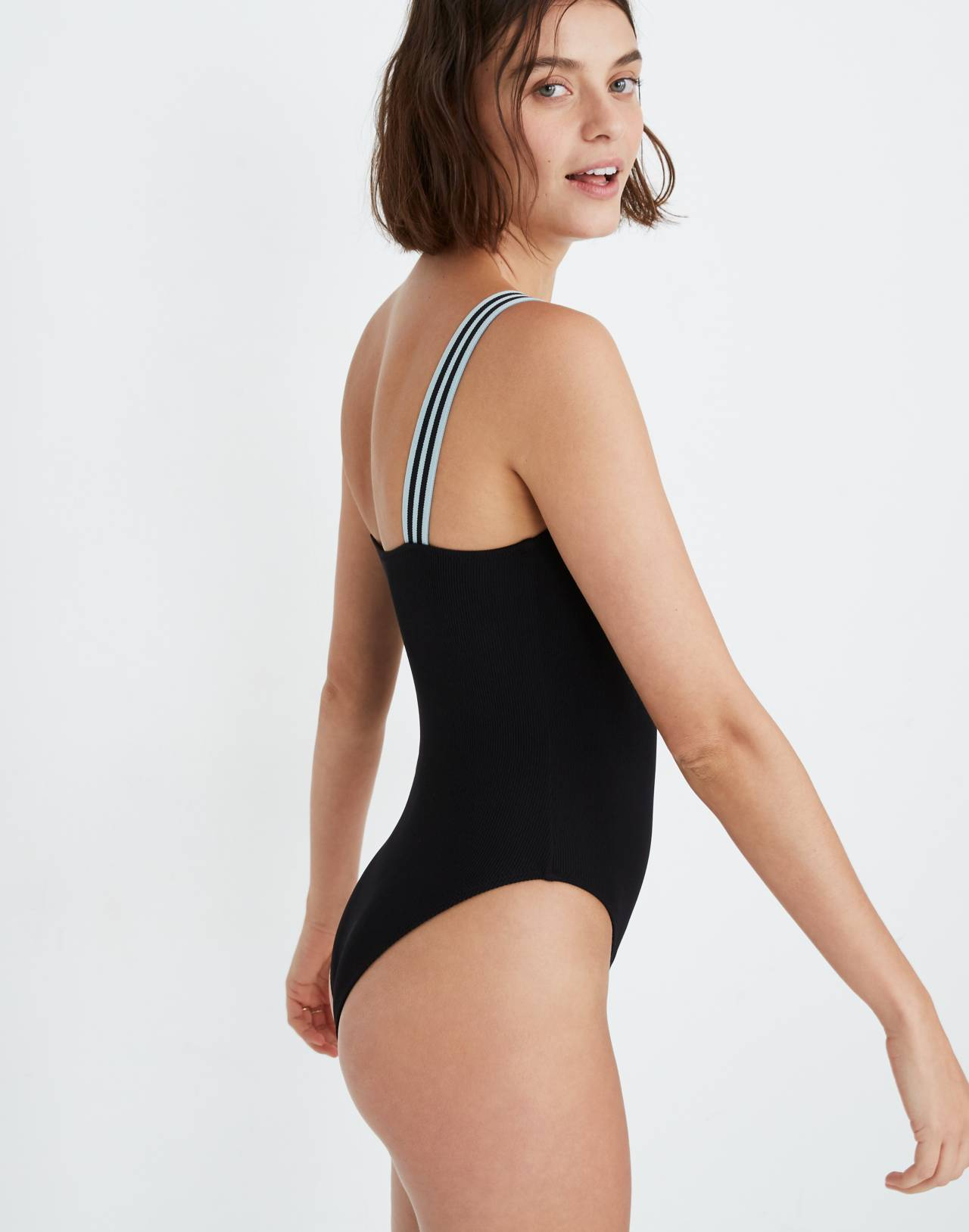 Solid & Striped® Riley One-Piece Swimsuit in black image 2